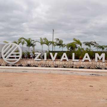 Letrero Zivalam Cancún