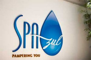 logotipo Spa Azul