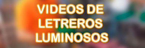 vídeos de letreros luminosos